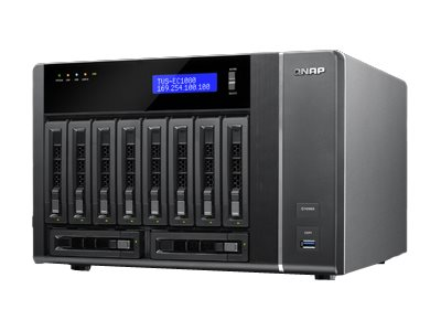 QNAP 10-Bay Edge Cloud Turbo vNAS SATA 6G 4LAN 10G-ready