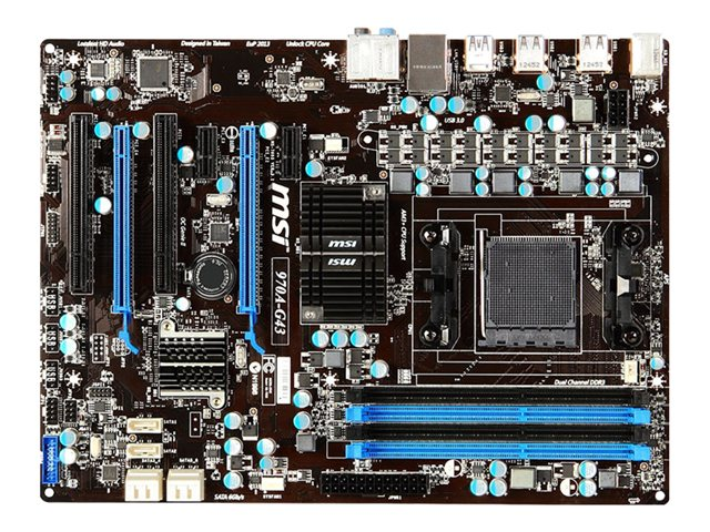 MSI 970A-G43 AM3+ CFX 4DIMM SIN VIDEO C/AUDIO