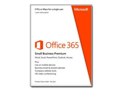 Microsoft Office 365 Small Business, Suscripcion 1 año