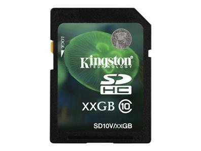 Kingston 8GB SDHC Class 10 Flash Card